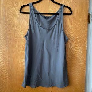Eileen Fisher silk georgette tank L